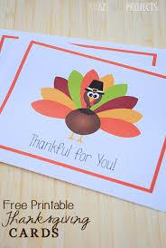Printable Thanksgiving Cards Free Printable Thanksgiving Thank You Cards From Crazy