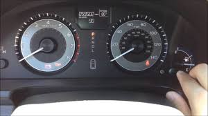 2011 Honda Odyssey Tpms Light Reset Reset Oil Maintenance Light 2010 To 2013 Honda Odyssey