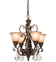 artcraft ac1844 florence 4 light 20 inch multi tone bronze chandelette ceiling light