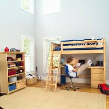 kids bunk bed with desk. Kids Room:Luxury Loft Bed Ideas High W/ Angle Ladder, Long Desk Bunk With