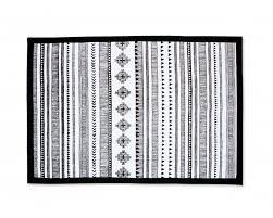 tribal aztec cotton rug black and white geometrical navajo print bohemian