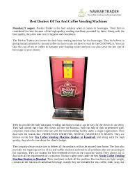 Tea Coffee Vending Machine Dealers In Mumbai Amazing Best Dealers Of Tea And Coffee Vending Machines