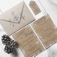 Rustic Winter Wedding Invitations Sample Rustic Winter Wedding Invitation Rustic Wedding Winter