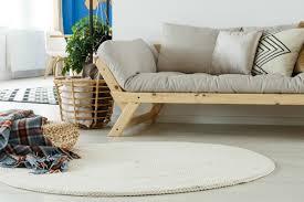 round white rug in livingroom