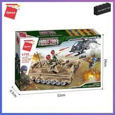 Bộ Lắp Ghép Đồ Chơi Lego Quân Sự Qman 712 Mảnh Ghép Xe Tank Kèm Máy Bay  Không Kích Hạng Nặng 1729 Cho Trẻ Từ 6 Tuổi chính hãng 499,000đ