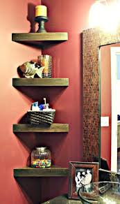 Do It Yourself Corner Shelves Best How To Build Corner Shelves For A Small Bathroom The Crafty Frugalista