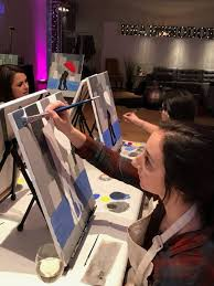 paint and sip nyc paint night nyc art wine cl