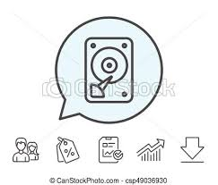 Hdd Icon Hard Disk Storage Sign