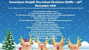Christmas Raffle Prize List