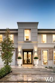 Frontage House Designs The Beauty Of Balance Radiates From The Toorak A Majestic
