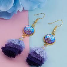 Sedalia Designs Purple Mermaid Tassel Earrings Sedalia Designs Must