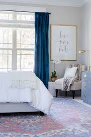 one room challenge orc master bedroom reveal bedroom coloursvelvet curtains bedroomblue
