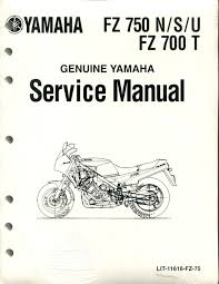 research claynes category yamaha motorcycle parts page  lit11616fz75 lit11616fz75b brand new factory service manual for the yamaha fz