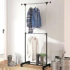 enclosed clothing rack w adjule 2 tier rolling garment rack home design free reviews