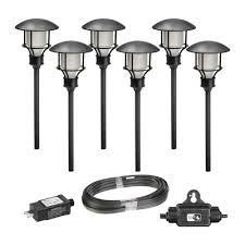 paradise garden lighting. paradise garden lighting gl33993bk 6 pack led mini path light kit with i