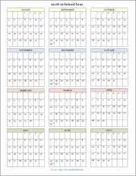 Printable School Year Calendars Academic Calendars For 2018 19 School Year Free Printable