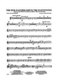 alto sax pink panther sheet music the pink panther meets the flintstones e flat alto saxophone