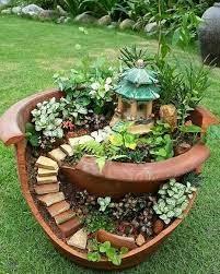 fairy garden pots broken pot garden