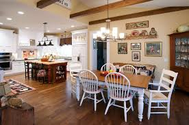 kitchen table lighting. Farmhouse Table Lighting Kitchen Rustic With Exposed Beams Country