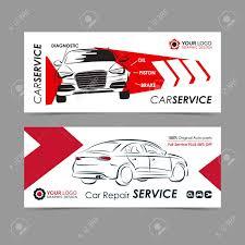 Auto Repair Flyer Set Of Auto Repair Service Banner Poster Flyer Car Service