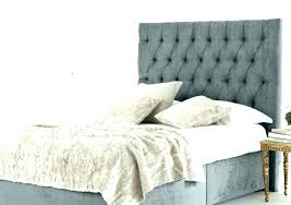 Low Bed With Cushion Headboard Double Padded Pillow Bedrooms ...