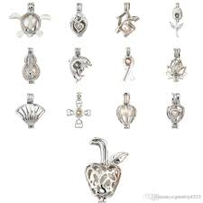 2020 60 Styles Pearl Cage Pendant With Oyster Pearl Wolf Bear Elephant Dog  Tree Of Life DIY Fashion Hollow Locket Clavicle From Jewelry1225, $34.73 |  DHgate.Com