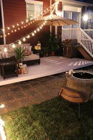 Exteriors  Small Backyard Deck Patio Designs Ideas With Curved Backyard Deck Images