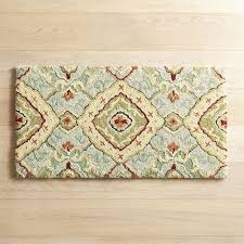 Memory Foam Kitchen Floor Mat Cloud Stepar Diamond Blue Memory Foam Rug Pier 1 Imports