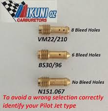 Mikuni Pilot Jet Drill Size Chart Vm22 210 Mikuni Pilot Jet Most Vm Carbs