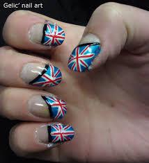 England Flag Nail Designs Gelic Nail Art Great Britain Flag Nail Art England Flag
