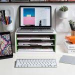 personal office design. Personal Office Design Ideas Awesome Slotted Filing Tray Stand Under The Monitor Fice