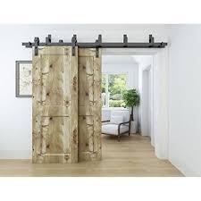 winsoon 6 6ft byp barn door hardware sliding kit for interior exterior cabinet closet doors with