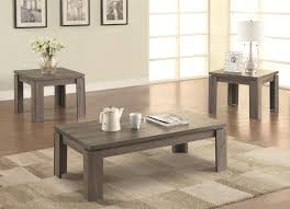 wood coffee table set. Grey Wood Coffee Table Set Steal-A-Sofa Furniture Outlet