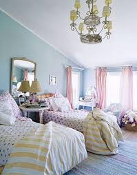 shared blue and pink bedroom