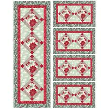 winterberry placemats and table runner free pattern