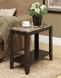 Amazon.com: Monarch specialties I 3114, Accent Side Table, Marble-Look Top,  Cappuccino, 24
