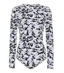 Camo Stretch Jersey Bodysuit