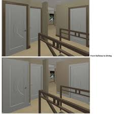 white interior doors with stained wood trim.  Doors Stained Trim And Painted Doors 3D Renderings  Attachedview_from_hallwayjpg To White Interior Doors With Wood Trim T