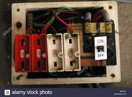 old style consumer unit electrical wire fuse box stock photo old style consumer unit electrical wire fuse box stock photo
