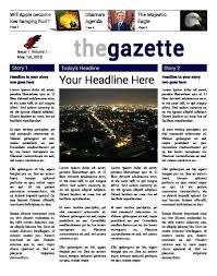 Interactive Newspaper Template