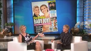 Ellen And Portia Ellen And Portia Discuss The Baby Rumors La Times
