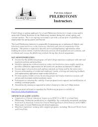 Resume Examples Templateshlebotomist Cover Letter No Experience