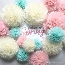 Tissue Paper Pom Poms Flower Balls 2019 20cm Tissue Paper Pom Poms Flower Ball For Wedding Decoration Baby Shower Birthday Party Diy Crafts Pom Poms Flower Ball Decor From Esw_house