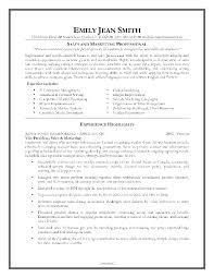 Entry Level Marketing Resume Sample Marketing Resume Sample