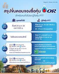 สรุปขั้นตอนซื้อหุ้น OR... - Thumbsup in Thailand