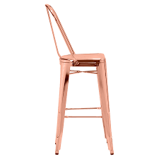 Contemporary Bar Stools Elea Rose Gold Modern Bar Stool Eurway Furniture