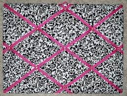 Damask Memo Board Enchanting DAMASK Scroll With Shocking Pink French Memo Board PicClick