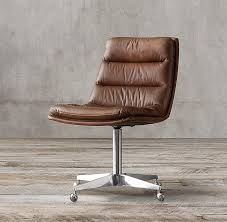 leather desk chairs. Modern Leather Desk Chair Throughout Home Office Chairs Crate And ..