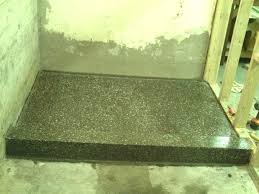 sweet terrazzo shower pan fiat base in x gasket installation camwells co elegant intended for home decor 4 leaking