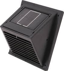 solar mini wall ventilator fan zoom in